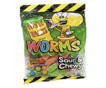 Toxic Waste Worms Sour & Chewy 12x142gr