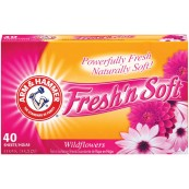 Arm & Hammer Dryer Sheets Wild Flowers 12x40 Sheets